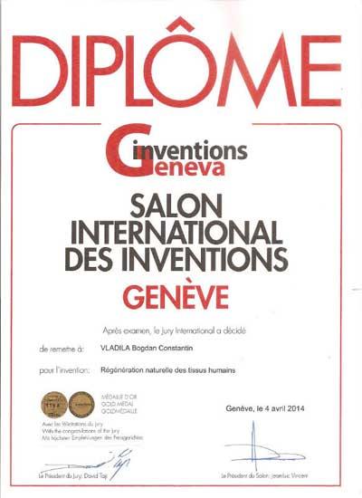 Diploma Bogdan Vladila Salonul International de Inventii Geneva