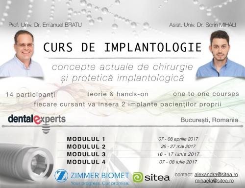 Imagine Curs de Implantologie - Concepte actuale de chirurgie si protetica