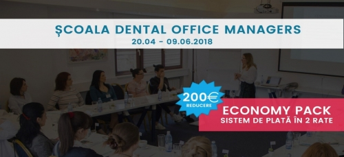 Imagine Scoala Dental Office Managers, 20.04 – 09.06.2018, Bucuresti