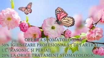 Imagine Oferta primavara - 50% igienizare, 20% tratamente stomatologice