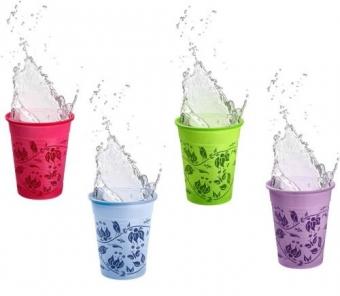 Imagine Pahare de unica folosinta FLORAL diverse culori