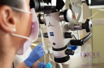 Tratament de canal la microscop